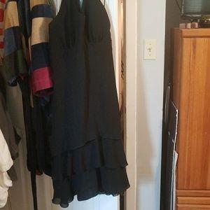 Black flowey dress